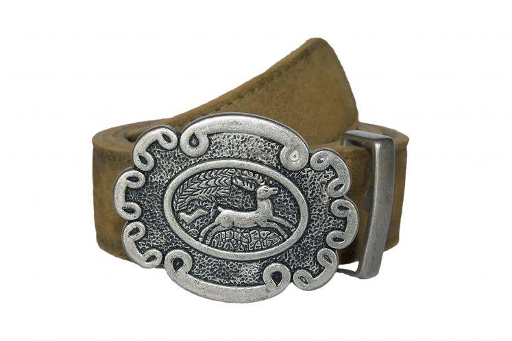 Gürtel GO-65 reh antik gespeckt | 100