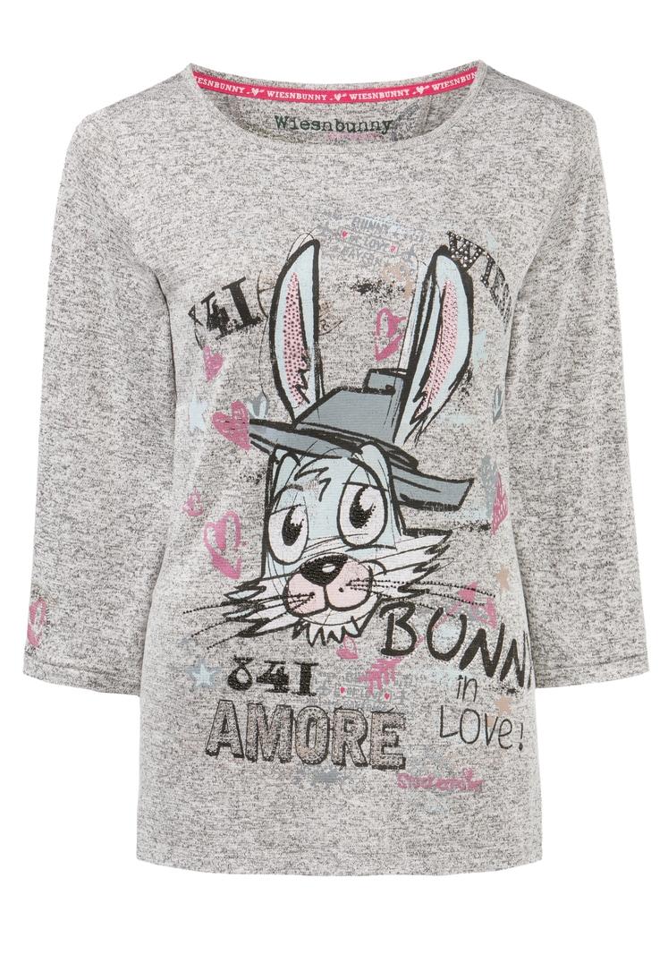 Shirt Bunny in Love grau melange   S