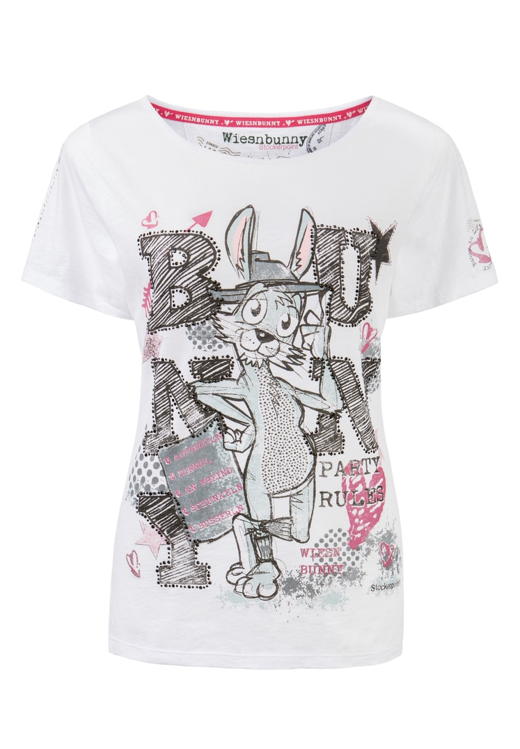 Shirt Bussi Bunny weiss   S
