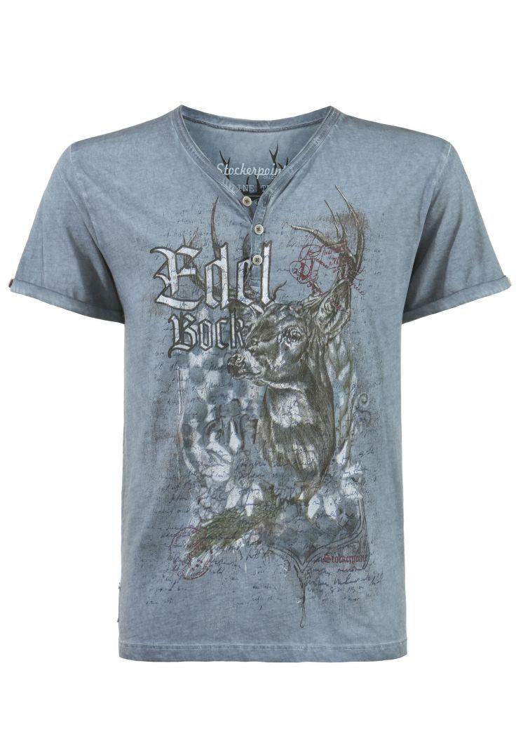 Shirt Edelbock rauchblau   S