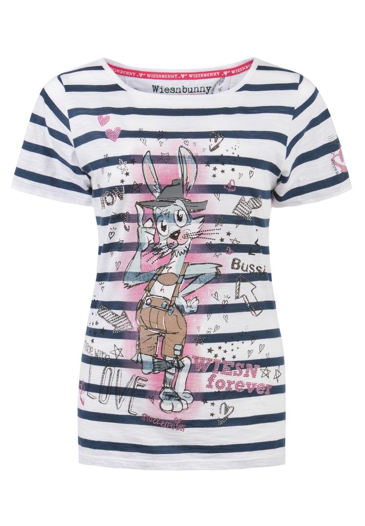 Shirt Wiesn Bunny blue stripe | S