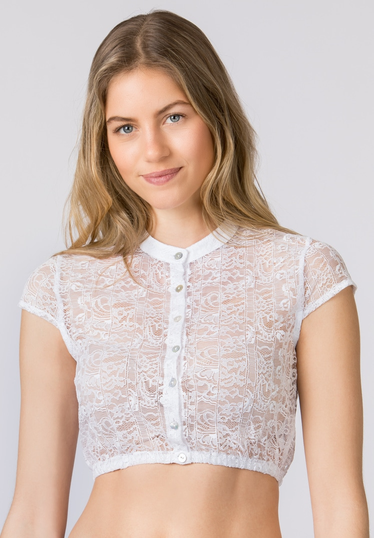 Bluse B-9010 weiss | 36