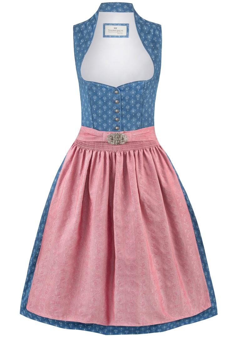 Dirndl Coraline blau-altrosa   30