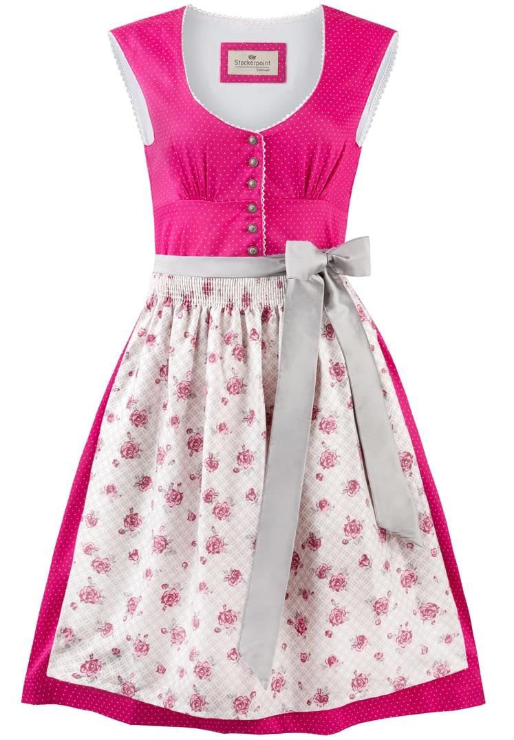 Dirndl Elvira pink-grün   34