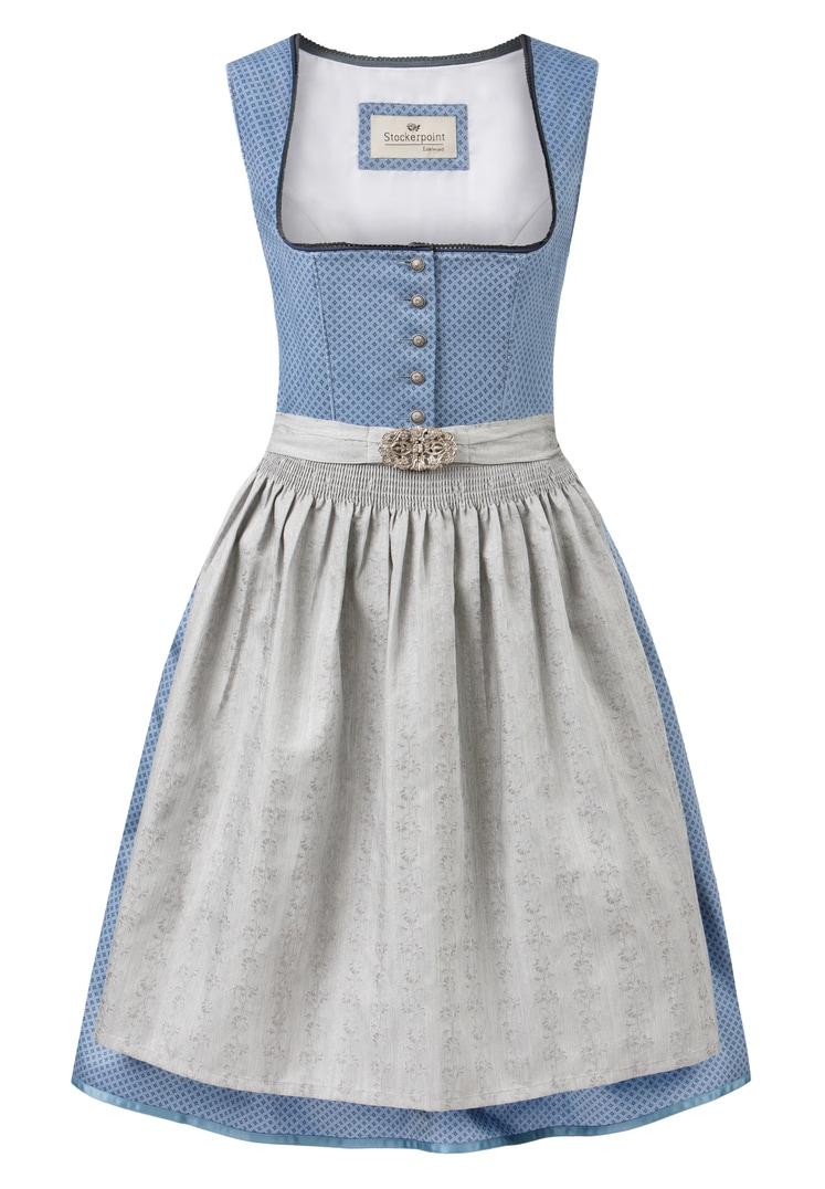 Dirndl Ines blau-grau   30