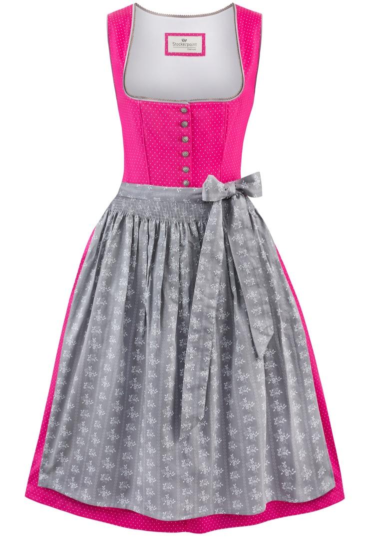 Dirndl Jeanne pink-grau | 32