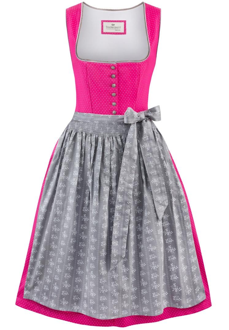 Dirndl Jeanne pink-grau | 38