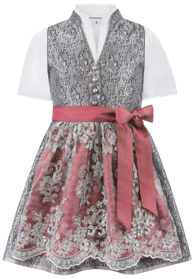 Dirndl Lilly grau-bordeaux | 86-92