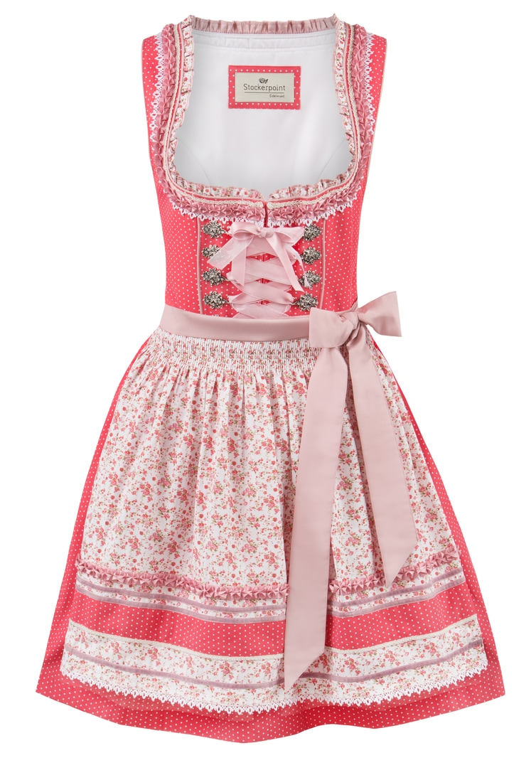 Dirndl Lou flamingo-flower | 38