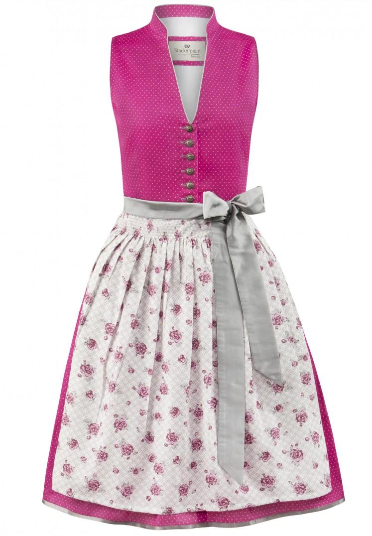 Dirndl Rika pink-grau | 34