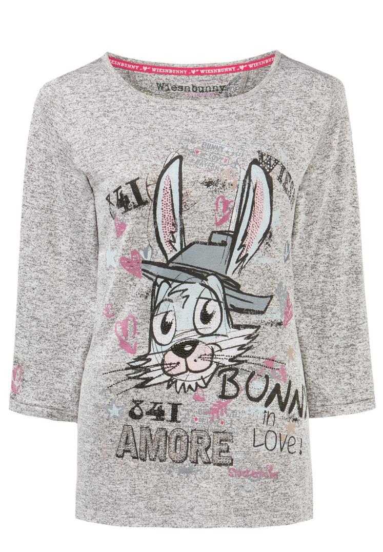 Shirt Bunny in Love grau melange | S