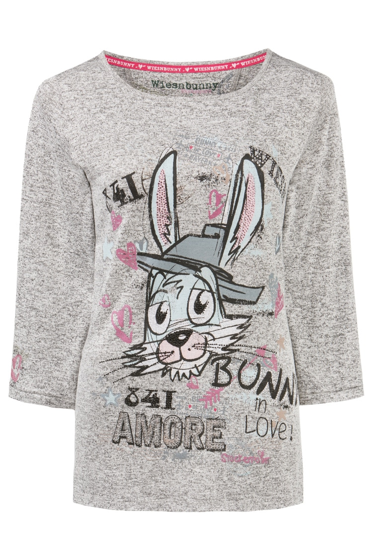 Shirt Bunny in Love grau melange | S