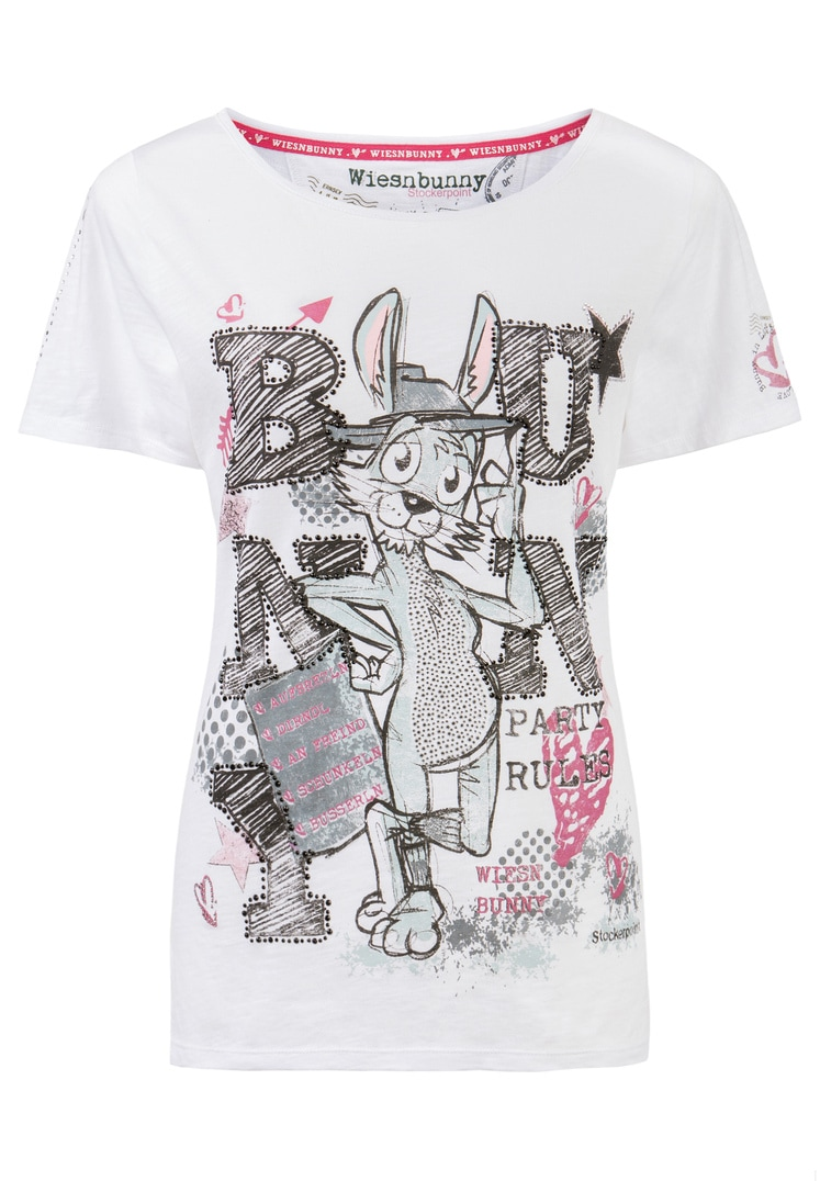 Shirt Bussi Bunny weiss | S