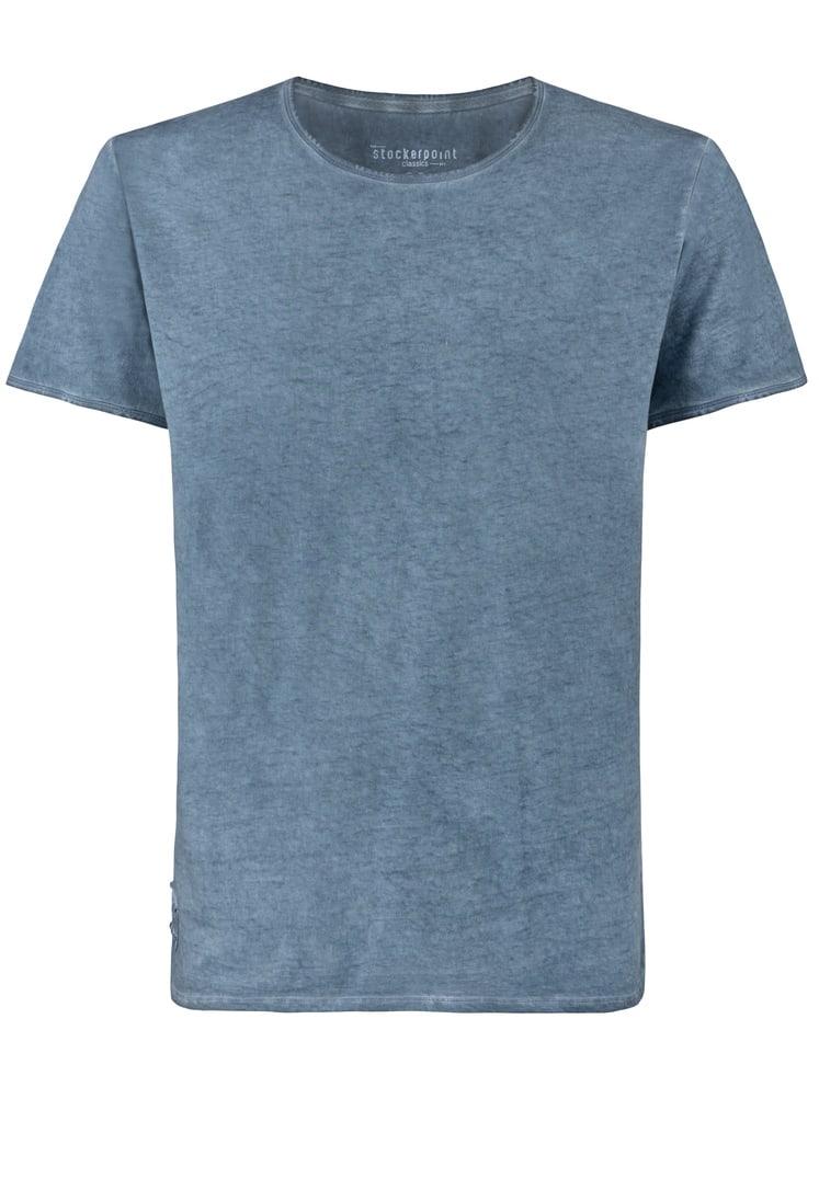 Shirt Falko Rundhals rauchblau | S
