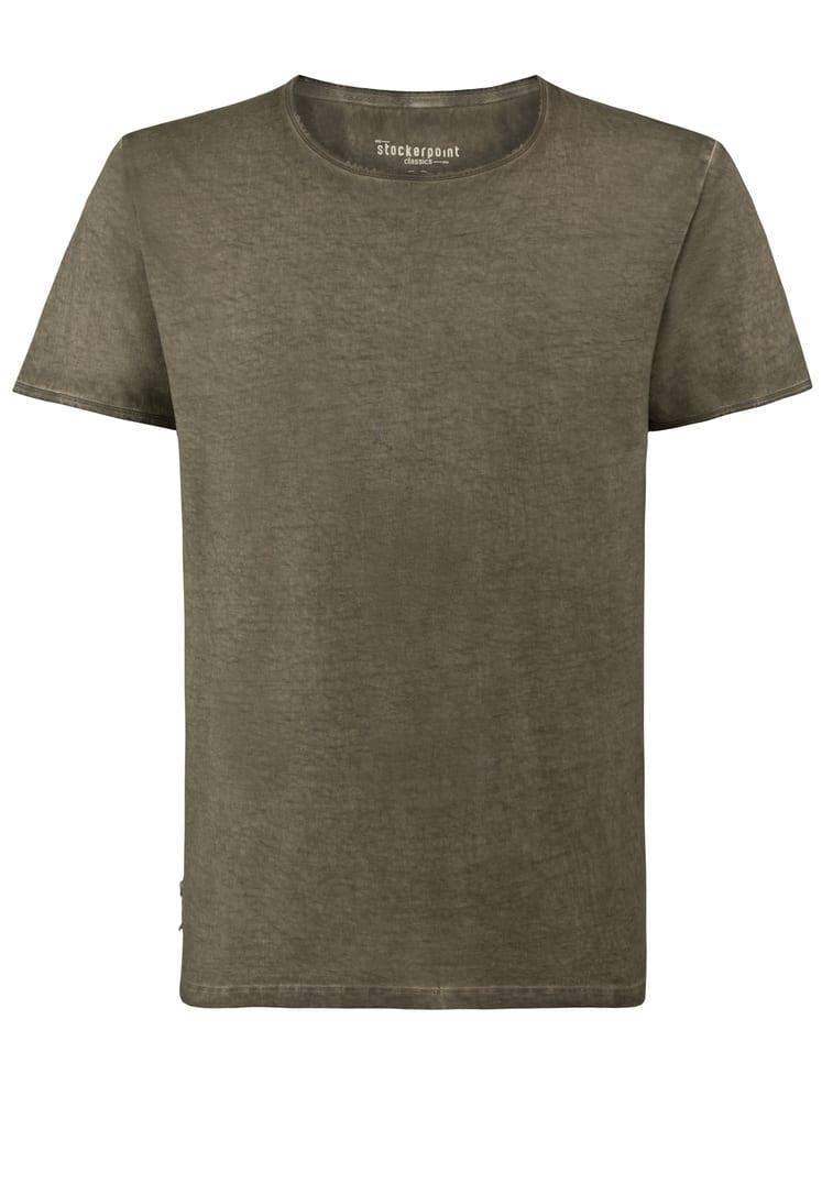 Shirt Falko Rundhals oliv | S
