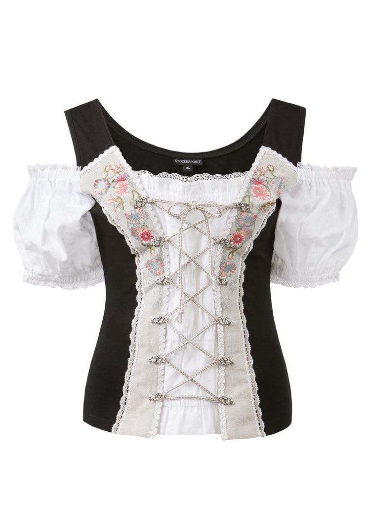 Shirt Pepita schwarz | 36