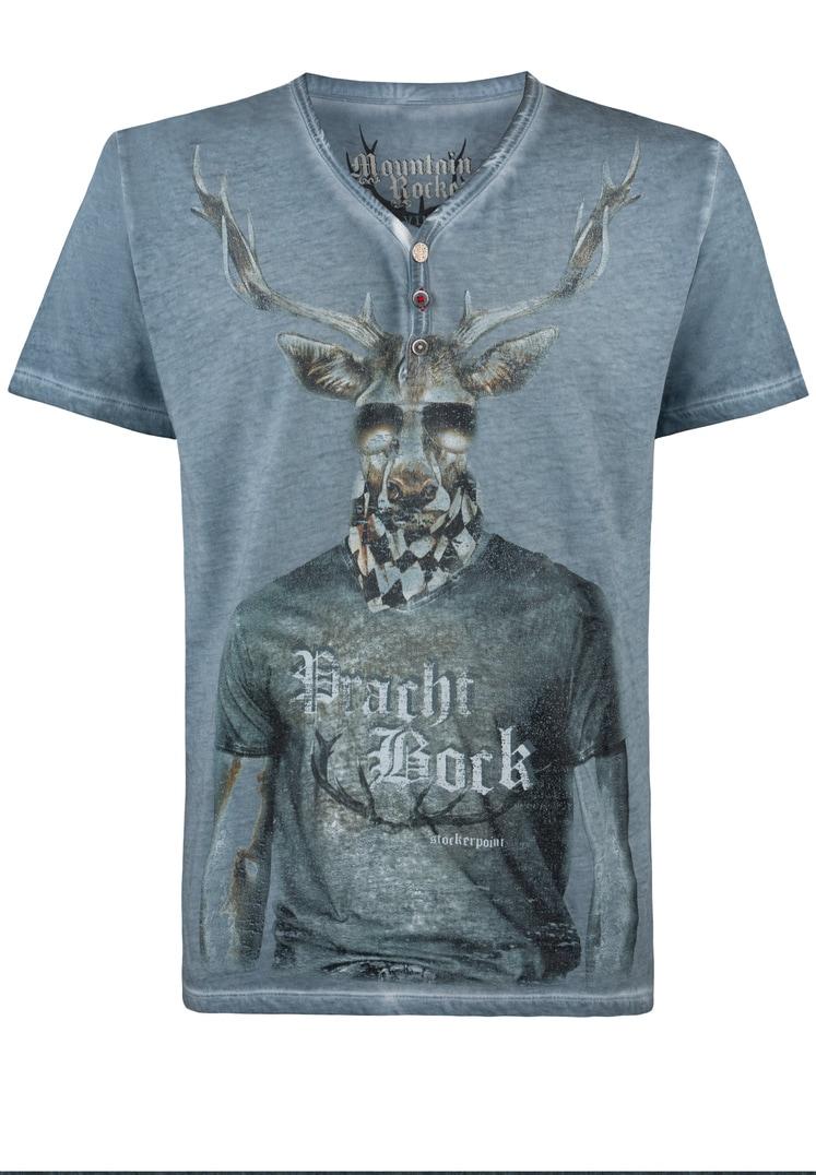 Shirt Prachtbock rauchblau   S