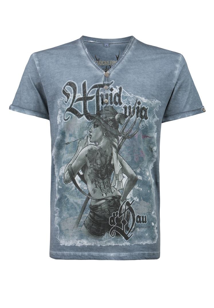 Shirt Rebel Soul rauchblau | M