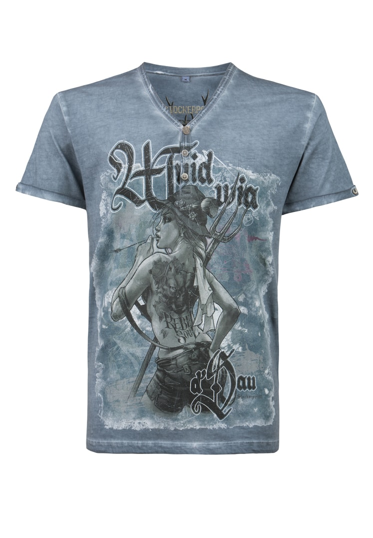 Shirt Rebel Soul rauchblau | S
