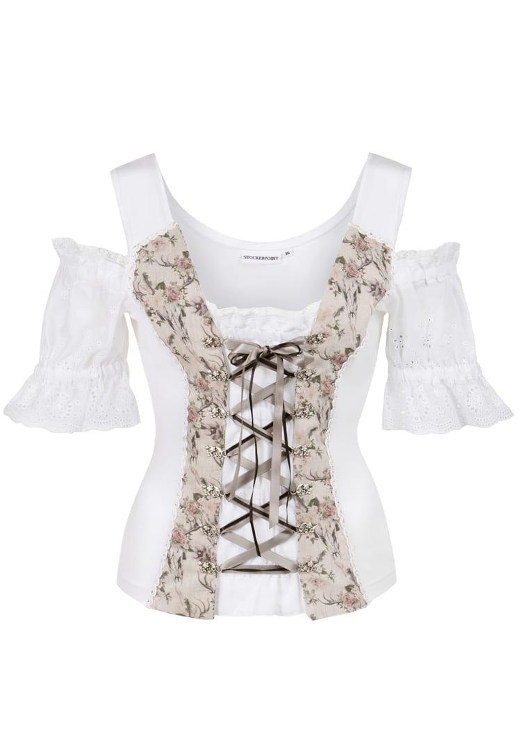 Shirt Saloria weiß-sand | 36