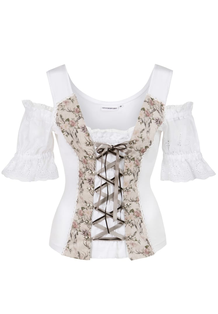 Shirt Saloria weiß-sand   36