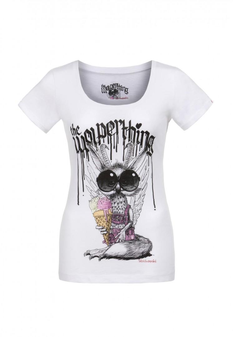 Shirt Wolpigirl weiss | 110-116