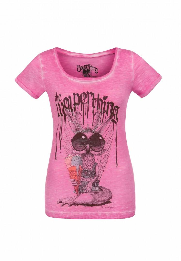 Shirt Wolpigirl pink   122-128