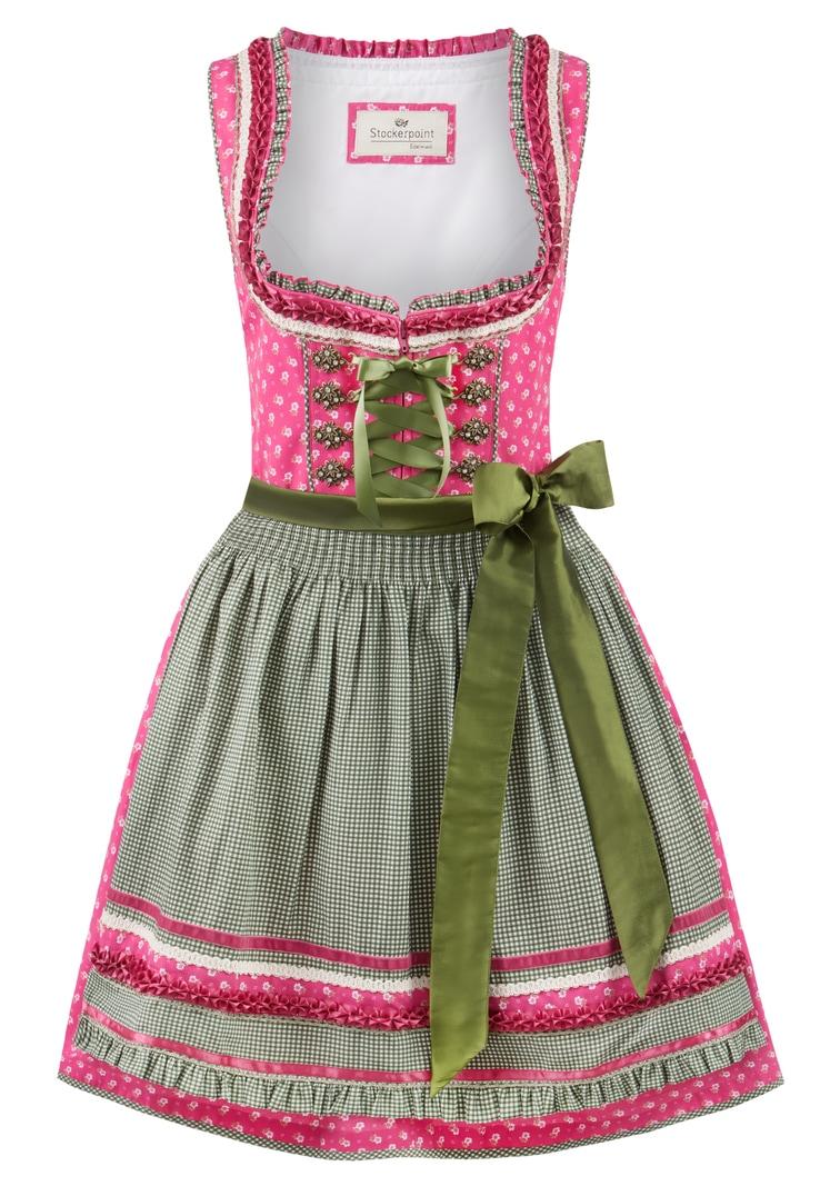 Dirndl Martina pink-grün   30