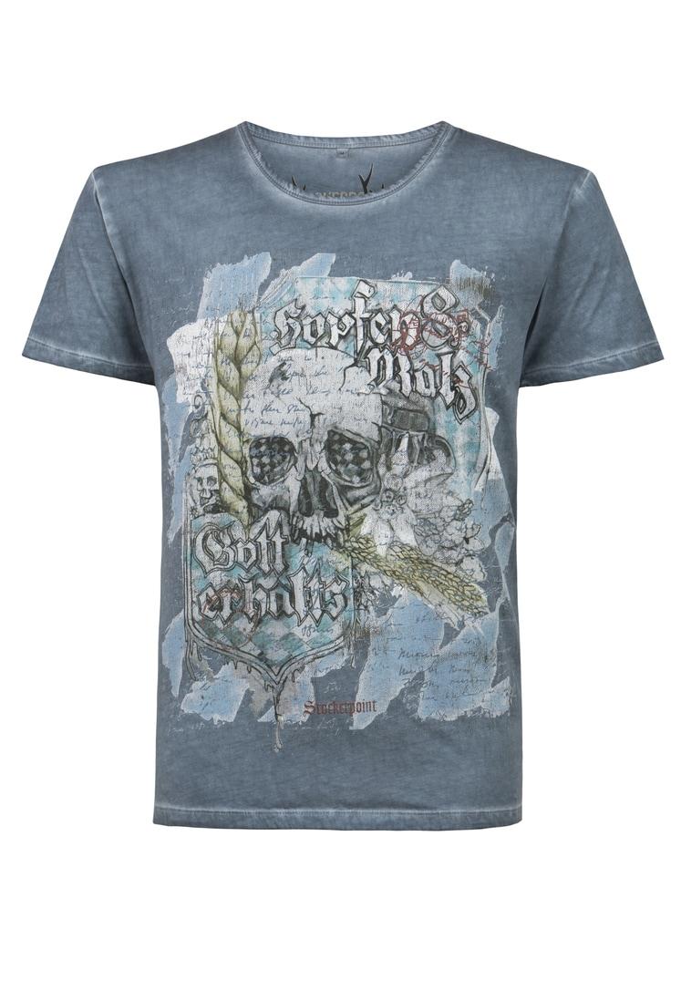 Shirt Bräu rauchblau | S